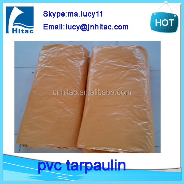 1100denier 18oz polyester pvc vinyl coated tarpaulin fabric factory