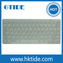 New Arrival White Color 2.4G Wireless Compact Keyboard For Desktop PC Laptop