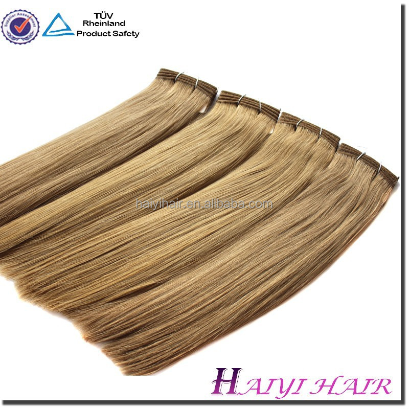 Wholesale Double Drawn Very Thick 100% Human Hair noble gold weaving hair