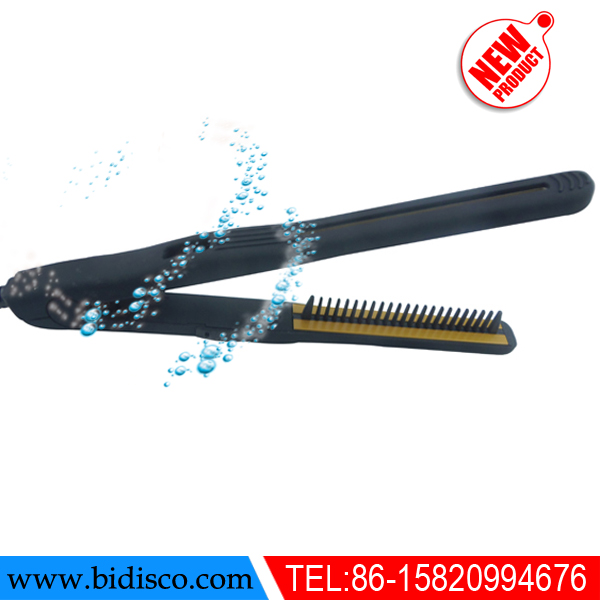 ceramic coated plate and aluminum plate Electric special hair iron with brush
