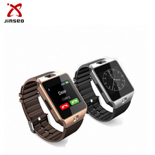 Wearable smartwatch device DZ09 single sim smart watch phone