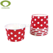 High quality polka dot paper ice cream cups container
