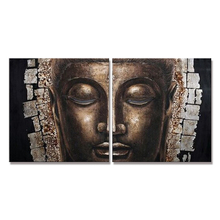 Newest Handmade Buddha Oil Painting On Canvas 3d