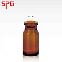 China Wholesale Custom 8ml amber aerosol glass bott , amber pet amber pet pill bottle , amber pharmaceutical drug glass bottle