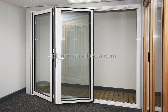 Aluminium Accordion Door Folding With Bifold Screen And