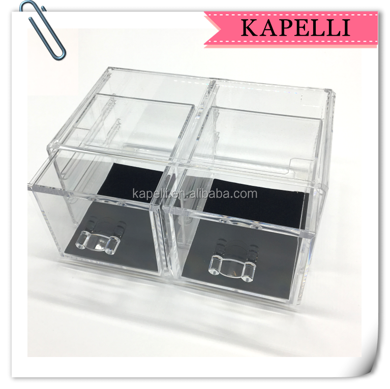 Acrylic Jewelry & Cosmetic Display Storage Boxes