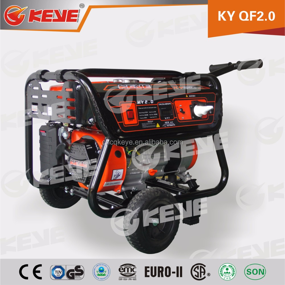 2kW AC single phase/three phase generator gasoline with 100% pure copper wire