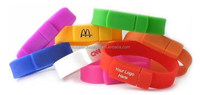 Beautiful silicone usb bracelet with Muti-color 8gb