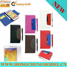 For Samsung Galaxy Note III 3 N9000 Card Flip Wallet PU Leather Case Cover Pouch