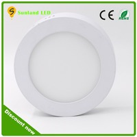 china manufacture smd2835 18w panel light,indoor suface round led panel light for living room