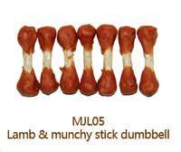 Lamb and Munchy Stick Dumbbell Munchy Stick Dog Dental Chews Dry Pets and Dogs Food Dog Training Treats Pet Snacks