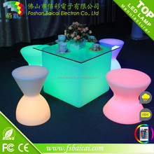 Hot sell outdoor LED bar table/barfurniture/ LED coffee furniture