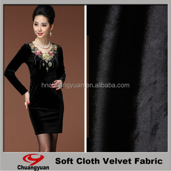 China Fabric factory /cloth Fabric / wholesale product woman dress good quality velvet fabric