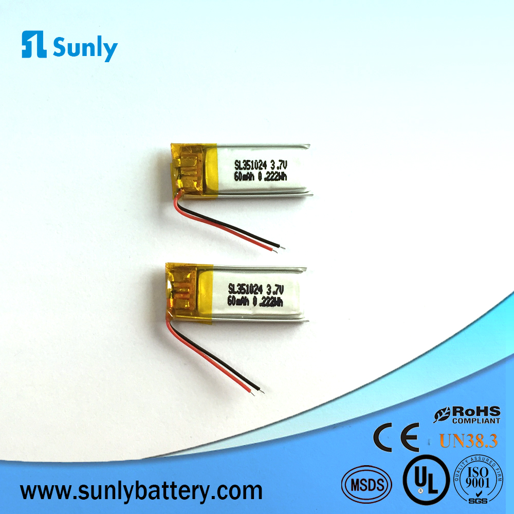 Micro cr2 battery 3.7v lipo battery 20mah for bluetooth headset 300819