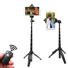 Stand Extendable Monopod wireless Remote Phone Mount Selfie Stick Tripod for Gopro hero 5 4 3 Android