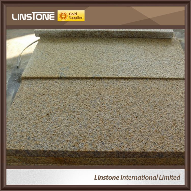 China Good Quality G682 Yellow Granite Flamed Paving Stone