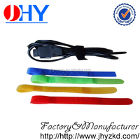 Wholesalse discount colorful hook and loop cable tie with logos
