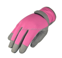 NEWSAIL Ladies Silicone dots palm garden gloves Pink Synthetic leather Planting gloves Women's Pruning gloves