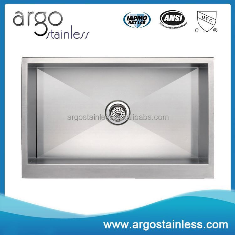 Right angle handmade stainless steel inox 304 foshan kitchen sink
