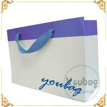Cheap new design black and white striped paper bags