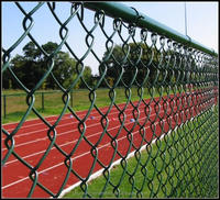 black paint chain link fence panels covering