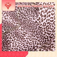 fabric 65polyester 35cotton blend leopard printed/printing fabric