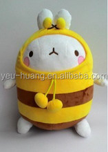 Plush rabbit with bee clothes rabbit stuffed animal