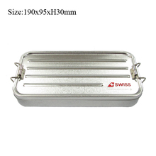 Metal type rectangular long storage tin case box with metal rolling lock
