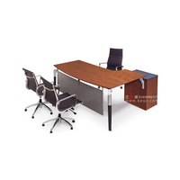 L Shape Office Furniture Manager Table