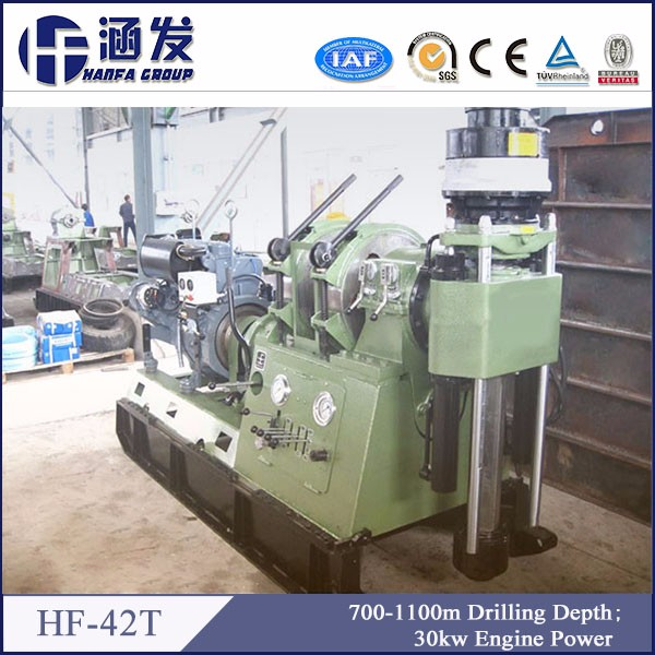 HF-42T portable diamond hard mental drilling for core geological prospecting core drilling rig