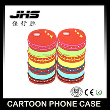 Cute cake shape colorful phone case 3d macarons silicone mobile phone case for iphone 5/6/7
