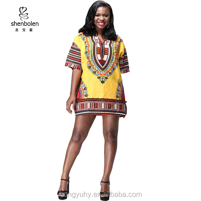 ZH-<strong>097</strong> Wholesale african clothing Short Sleeve Unisex Dashiki Top