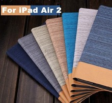 Jean style leather case with card slot Custom printed case for IPAD5