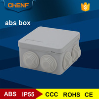 Avoid open hole 85*85*50mm gray plastic abs enclosure small electrical junction box