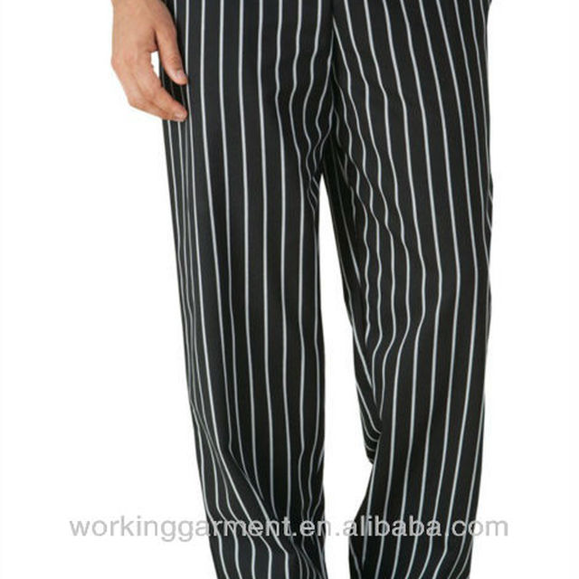 Uncommon Threads Baggy Chef Pants-LRC0060-Chalk Stripes