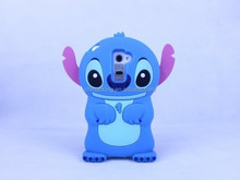 Lovely 3D Stitch Cartoon Cute Soft Cover Case For LG G2 Silicone Protective Skin Design