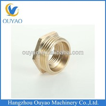 Copper and brass fittings, copper male and female threaded pipe fittings bushing