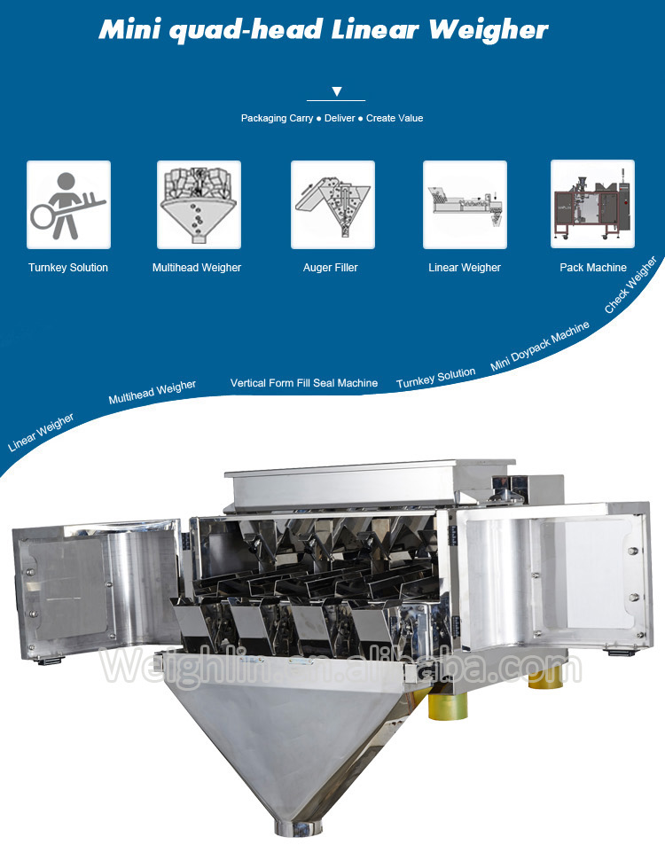 Smart mini doser packaging machine linear weigher for packing sesame granules snack foods