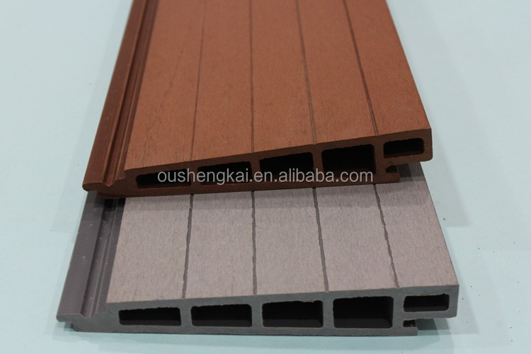 external anti-UV WPC wall cladding waterproof wood plastic composite panel