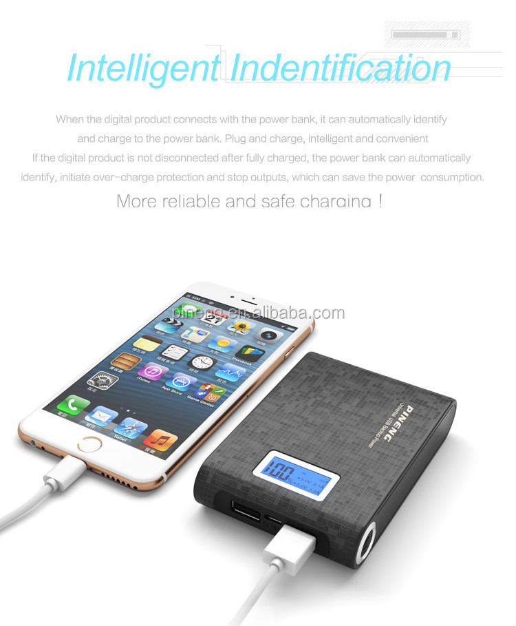 Pineng PN-913 Black/White 10000mah mobile power bank for iphone 6s plus