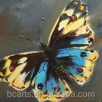 A Colorful Classical Hand Painted Butterfly Paniting From Da Fen Oil Painting Village