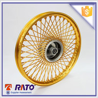 China top rated 17 inch motorcycle gold wheel disc