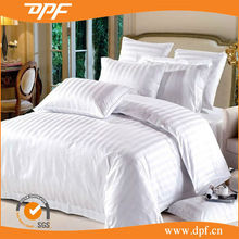High quality Hotel Bed Linens 100% Cotton White Plain