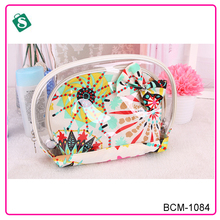 A three-piece printed pvc cosmetic bag promotional
