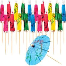 Cocktail drink sticks decoration umbrella cupcake pick disposable umbrella picks