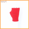 Women's lovely red sexy christmas wrist length warm knitted gloves and mittens for girls