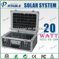 Hot ! outdoor solar power/energy portable 20W solar camping for light/fans/refriger