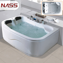 discount simple one piece acrylic air bubble system spa bathtub