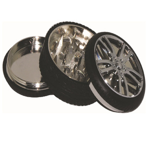 New type tire Shape metal smoke and herb grinder