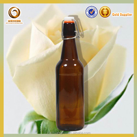 Wholesale amber color china glass beer bottle 500ml